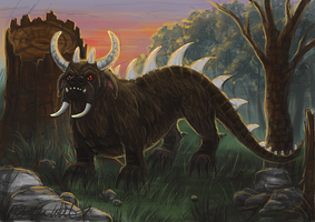November:  The Hodag by pyro-helfier