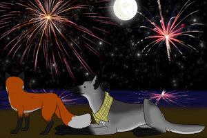 Watching the Fireworks by Alcemistnv