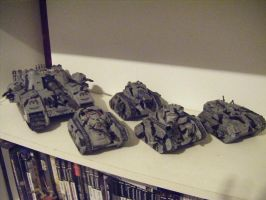 Imperial Guard Tanks by Irabrai