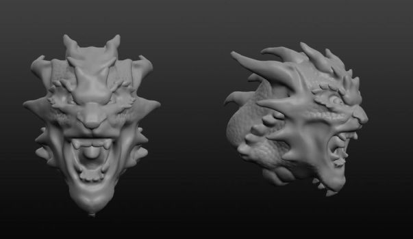 3D Dragon Bust by Ahrjey
