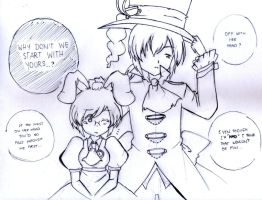 Mad Hatter and March Hare [dAnamic] -DWonderland- by Fantashii