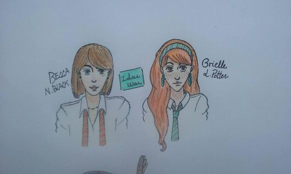 Rebecca Black and Gabrielle Potter by BluePrinceArrow