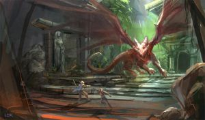 Red Dragon's Lair by PigeonKill