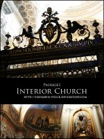 Church interior Package 1 by Indrawn-stock