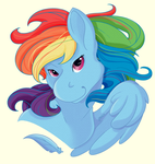 Rainbow Dash Button Design by RottingRoot