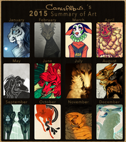 2015 Summary of Art by CanisAlbus