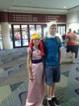 Finn and Princess Bubble Gum at Megacon 2012 by ElysiaCiel13