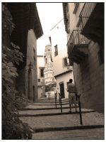 Spanish Village Steps by erene