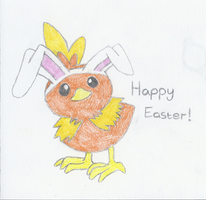 Torchic the Easter Bunny by Survivalise