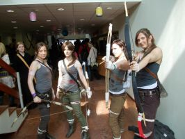 Lara Croft cosplayers by AdaCroft