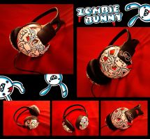 zombie bunny headphones by junawashere