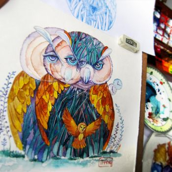 Owl by WinLeAnh