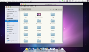 Ubuntu 11.10 Mac-like by davidsousarj