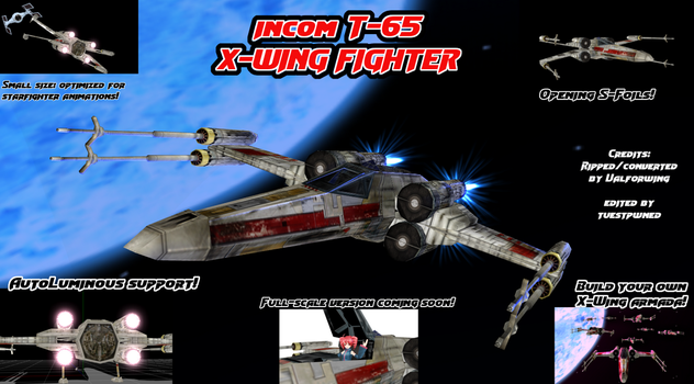 (MMD) X-Wing v1.0 Model Download by tuestpwned