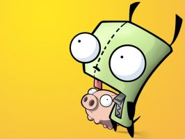 Gir and Piggy by loonyface