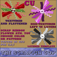 Scrap Ribbon Flower Action by debh945