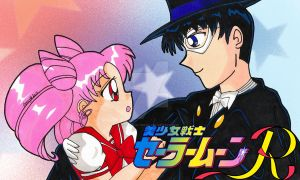 Re-Draw: Tuxedo Mask and Rini by Magical-Mama