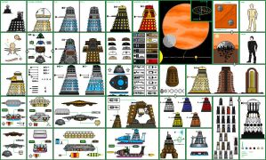 Dalek (From Dr Who) and their history. by jbobroony