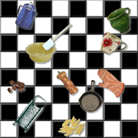 Checkerboard Kitchen by fugitive247