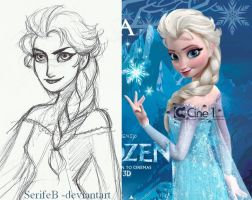 Elsa's design by SerifeB