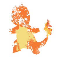 Charmander Paint Splatter Graphics by HollysHobbies