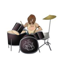 Drummer by lozfitzy