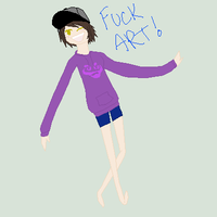 FUCK ART by AlonewiththeSEA