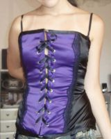 Black and purple corset by skinywitch