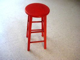 Red Stool by mage-luna