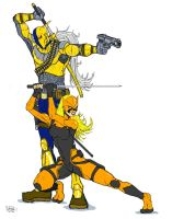 DeathStroke and Tigress (Blonde) by RoTheKid