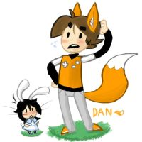 Dan The Fox and Ash The Snowbunny by DanThelVlan
