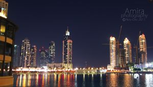 Business bay view from Dubai mall 2 by amirajuli