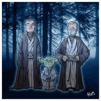 The Force Ghosts. by stayte-of-the-art