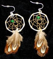 Dreamcatcher Earrings by Lyrak