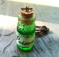 Poison Glass Bottle Keychain by random-wish