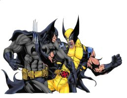 Batman VS Wolverine Colors by ESO2001