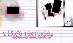 2 large textures by Lookbutdontouch