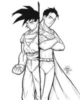 Goku vs Superman by sykoeent