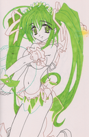 Green Manga or Anime Girl by lokingard