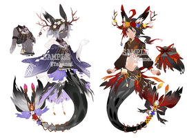 [UPDATE ]Kemonomimi Mermaids Adoptable [CLOSED] by Tabanei