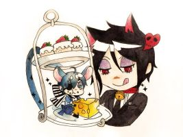 Black Butler: Cat and Mouse by blue-ember333