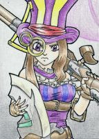 Caitlyn Sketch Card by geardrafter