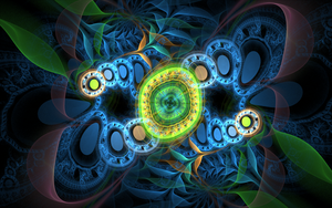 greenblue circle pattern by Andrea1981G