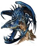 Ancient Blue dragon by BenWootten