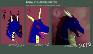 Draw it again again Dragon by Kutanra