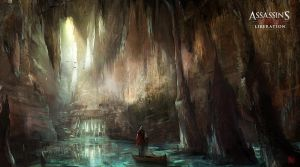 Assassin's Creed III :Liberation . Cave entrance by nachoyague