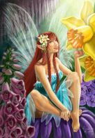 Fairy and Flowers by CarolMylius