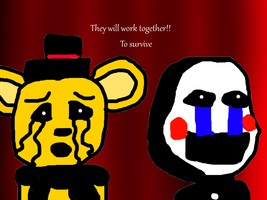 Golden freddy and marionette by xxhaileywillxx