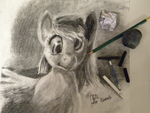 Derpy Charcoal Study by Obsequiosity