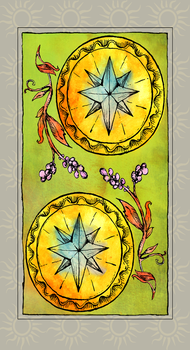 Tarot - Two of Pentacles by BlueEyedAlice